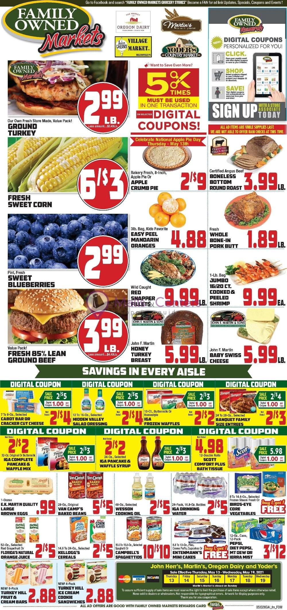 weekly ads John Herr's Village Market - page 1 - mallscenters.com