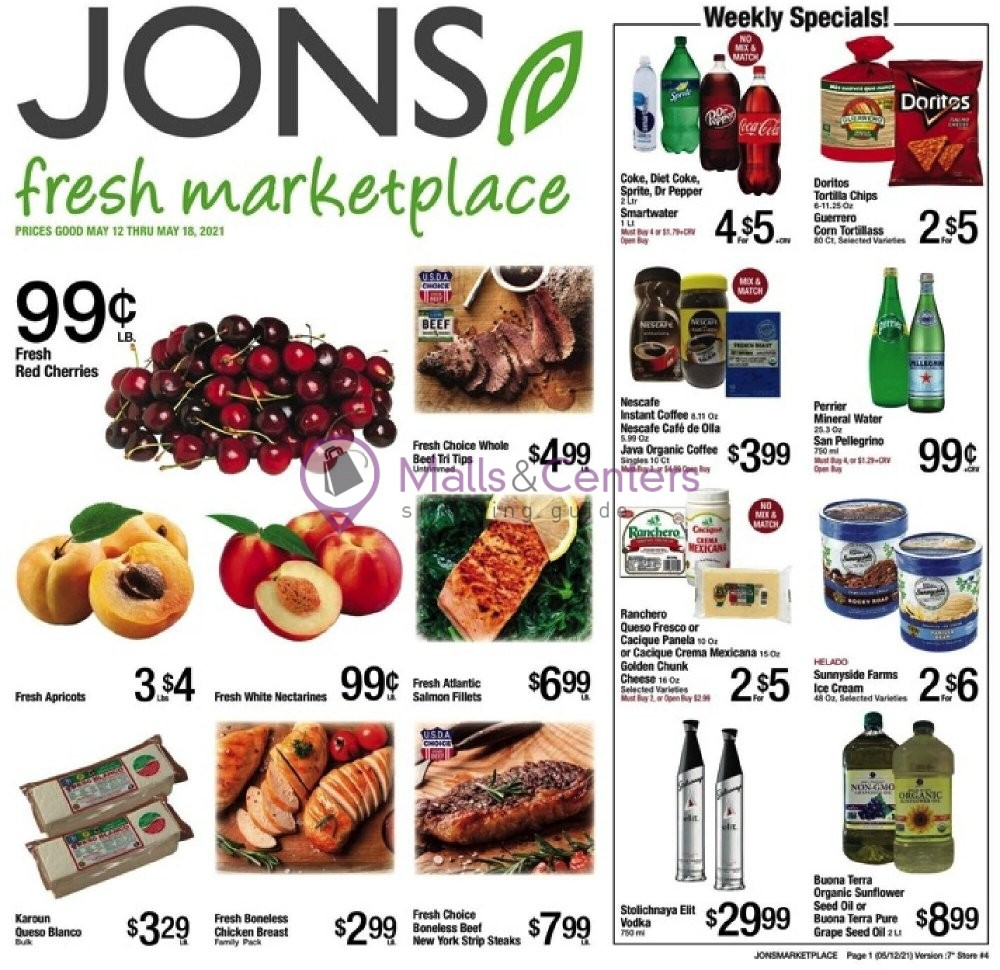 weekly ads Jons Fresh Marketplace - page 1 - mallscenters.com