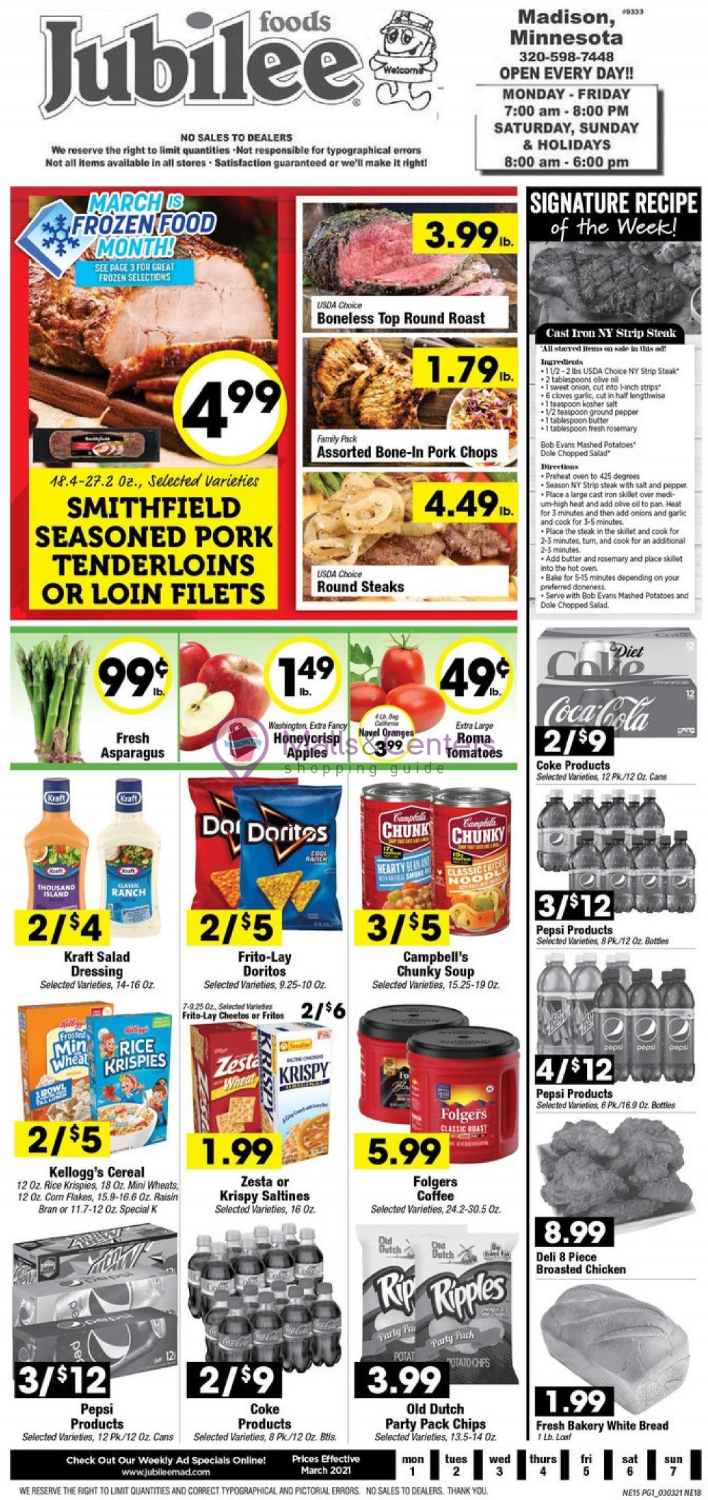 weekly ads Jubilee Foods - page 1 - mallscenters.com