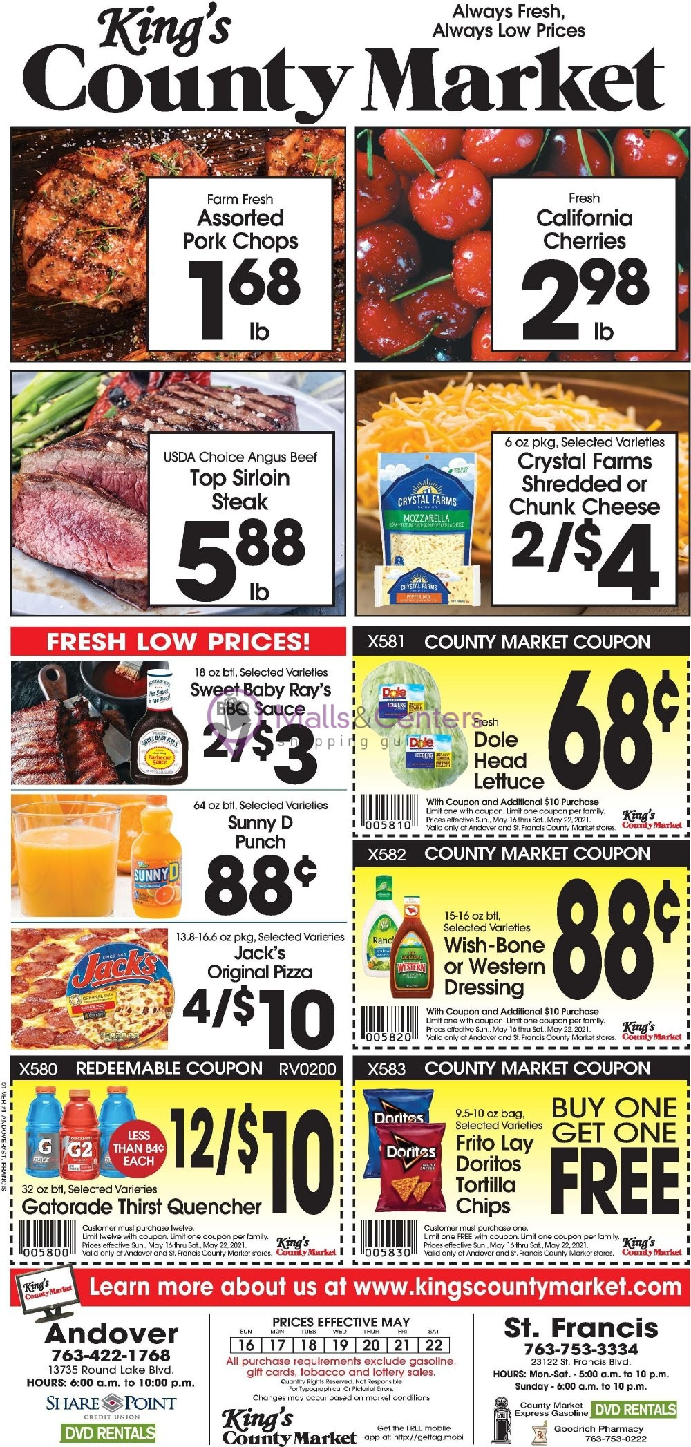 weekly ads King's County Market - page 1 - mallscenters.com