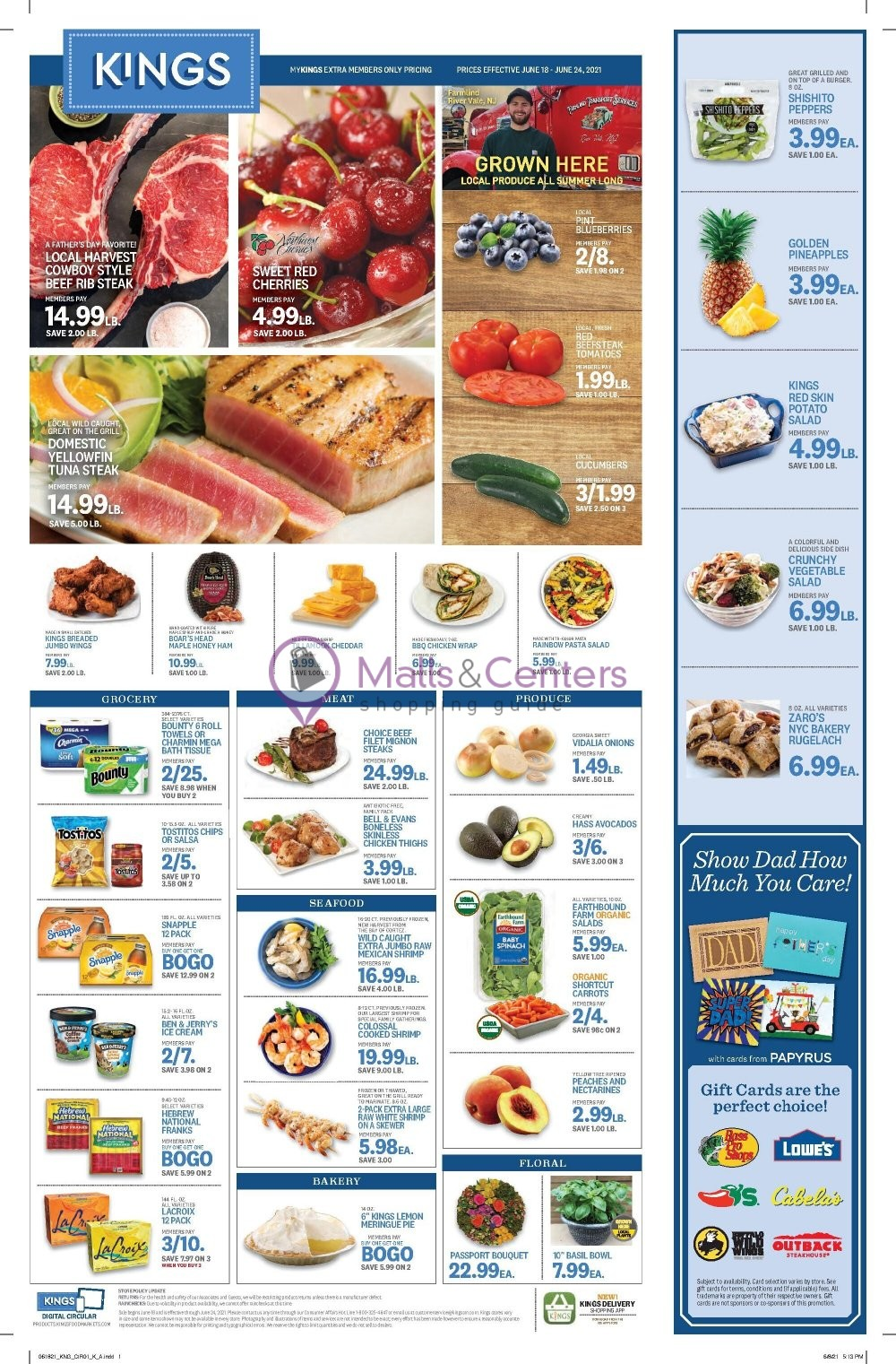weekly ads Kings Food Markets - page 1 - mallscenters.com