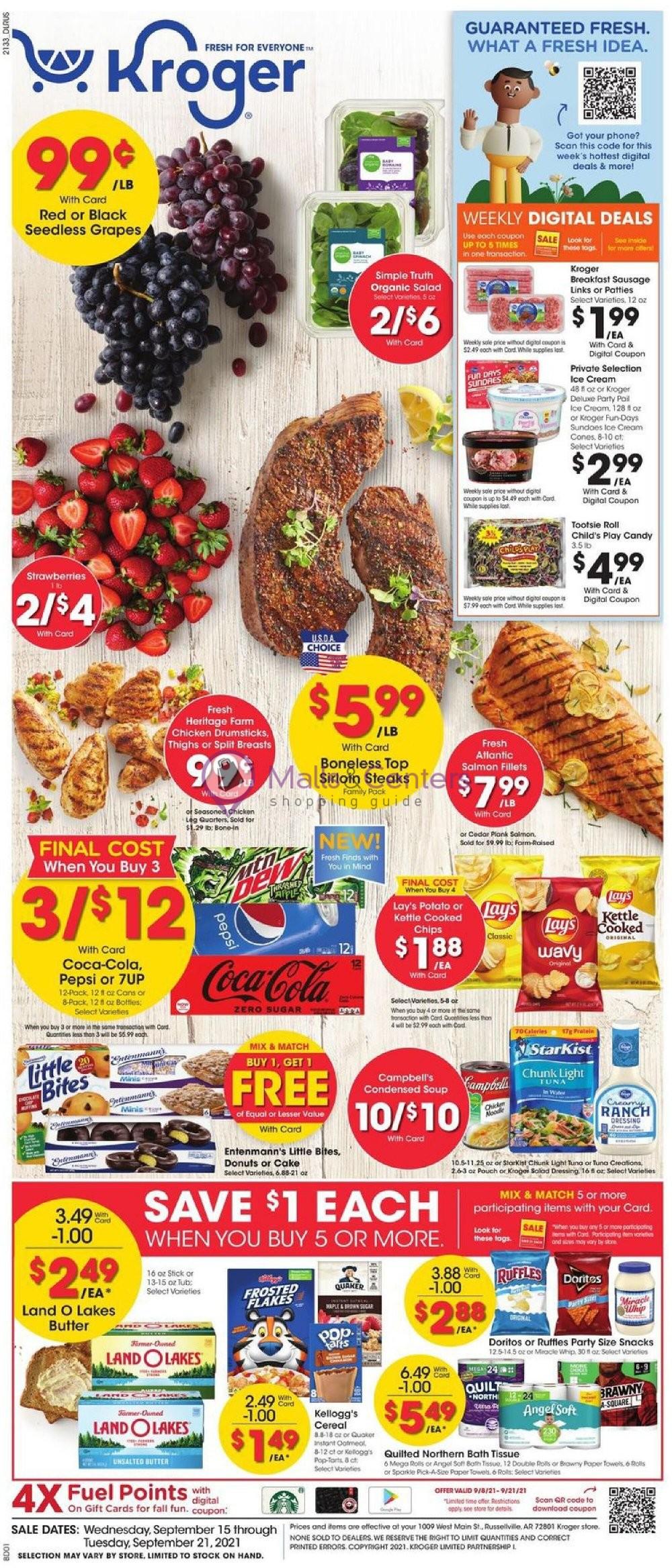 weekly ads Kroger - page 1 - mallscenters.com