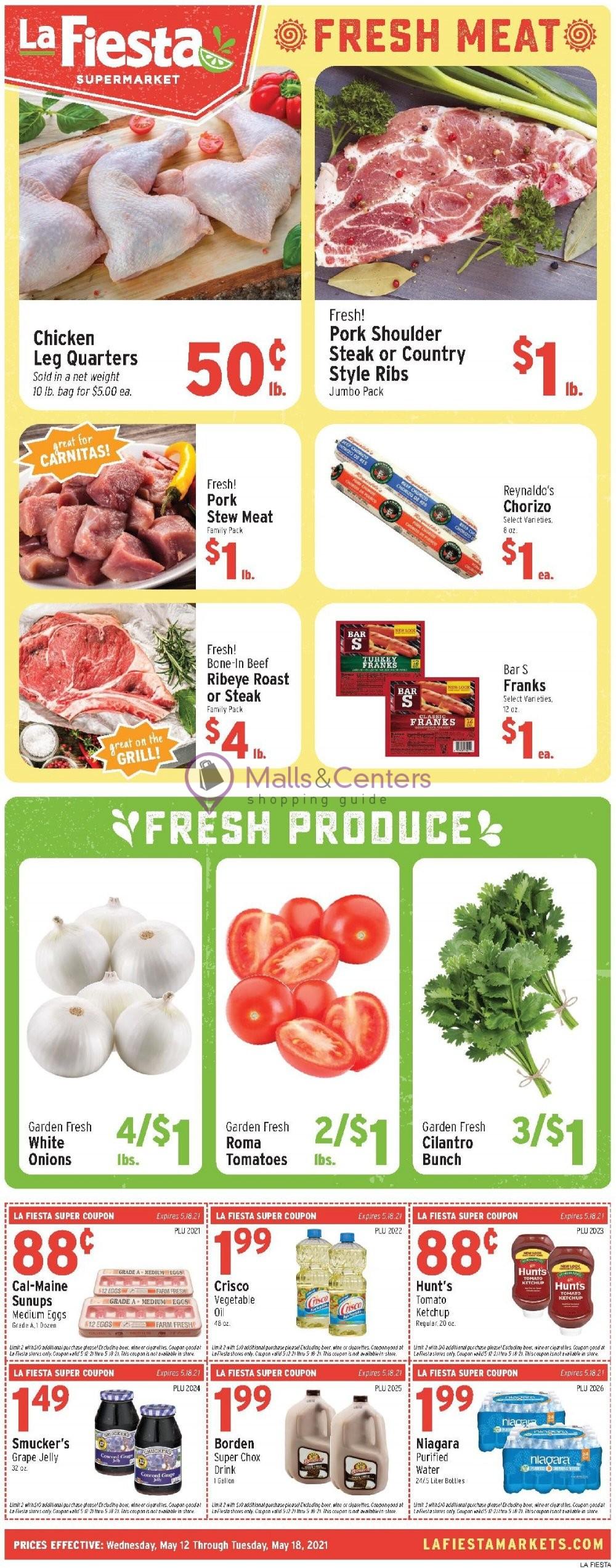 weekly ads La Fiesta Supermarket - page 1 - mallscenters.com