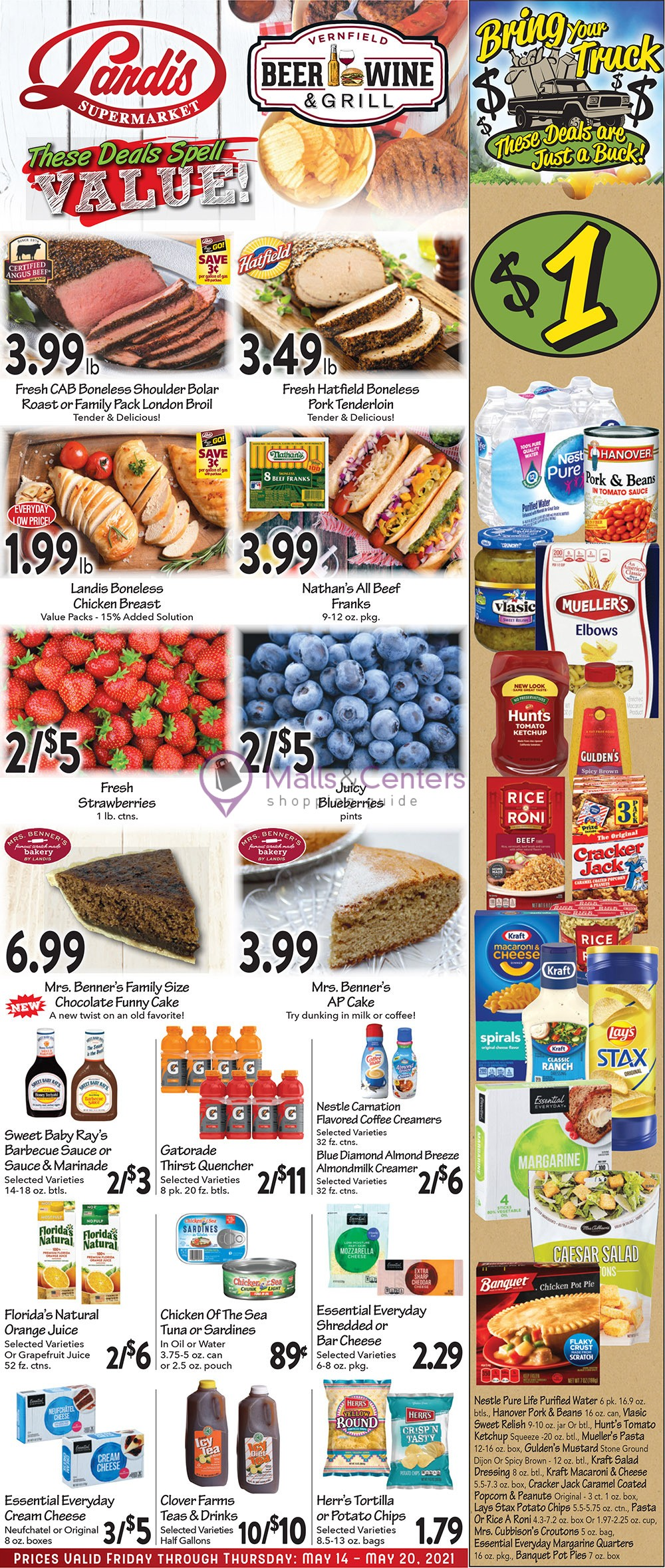 weekly ads Landis Supermarket - page 1 - mallscenters.com