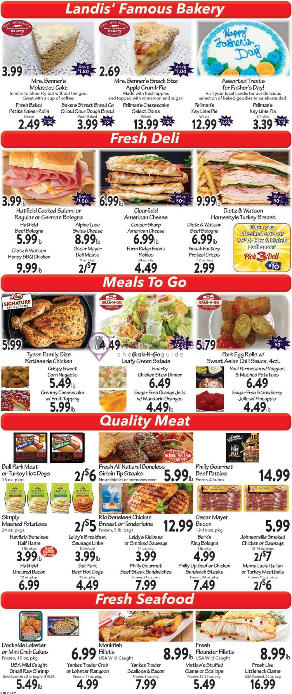 weekly ads Landis Supermarket - page 1 - mallscenters.com