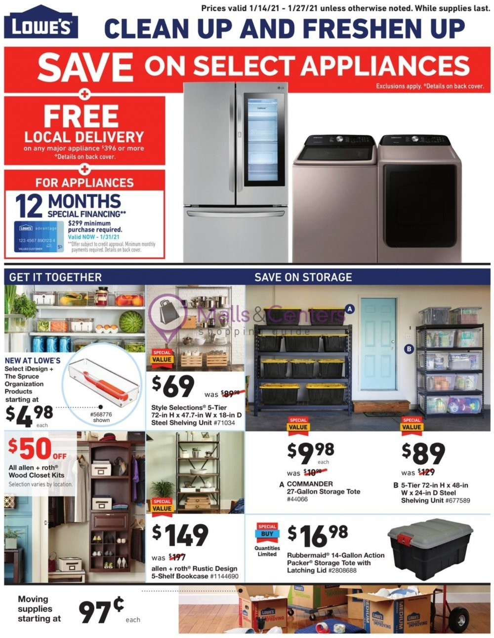 weekly ads Lowe's - page 1 - mallscenters.com