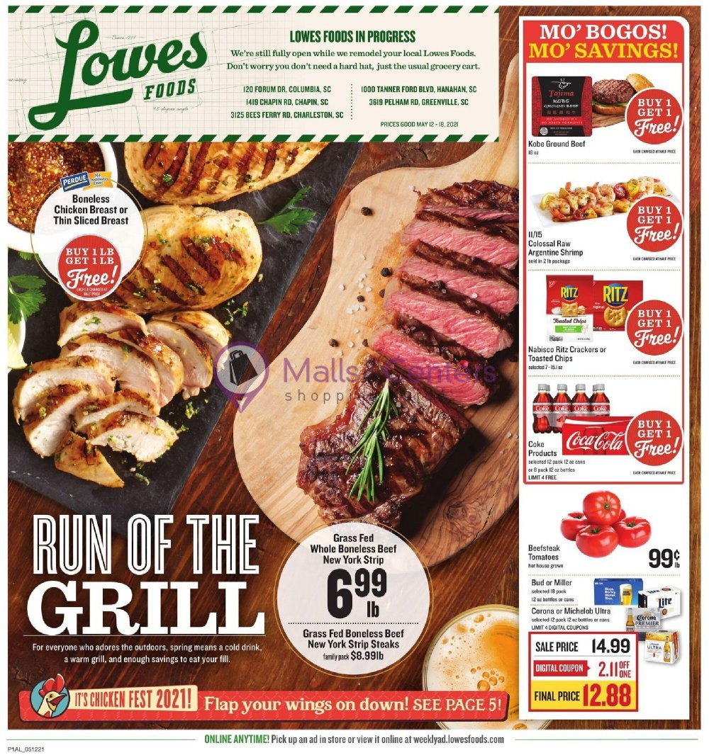 weekly ads Lowes Foods - page 1 - mallscenters.com