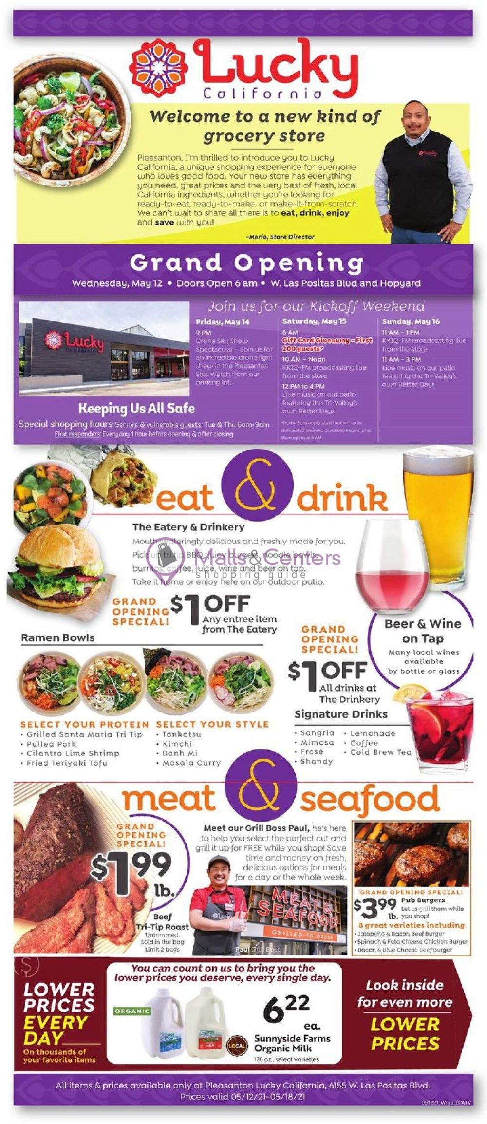 weekly ads Lucky Supermarkets - page 1 - mallscenters.com