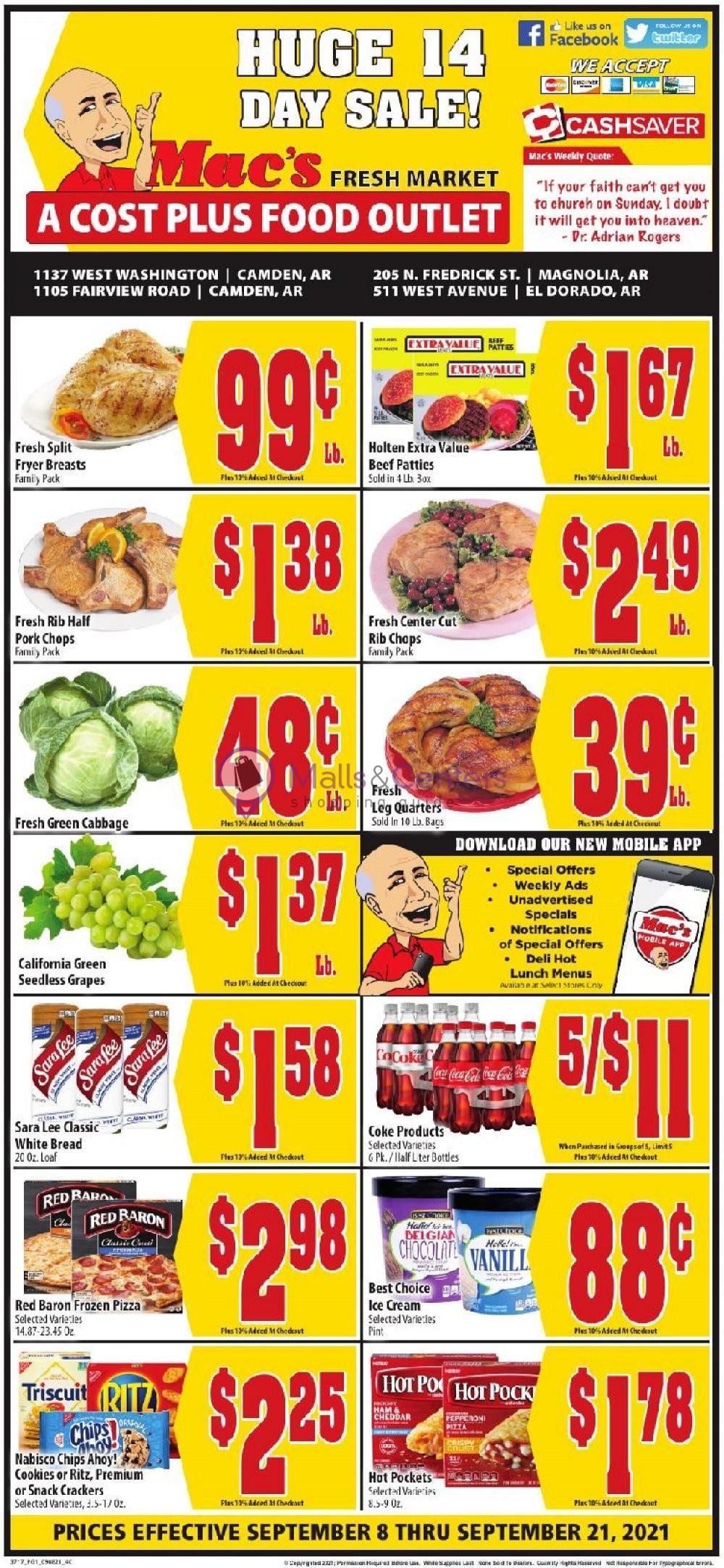weekly ads Mac's Fresh Market - page 1 - mallscenters.com