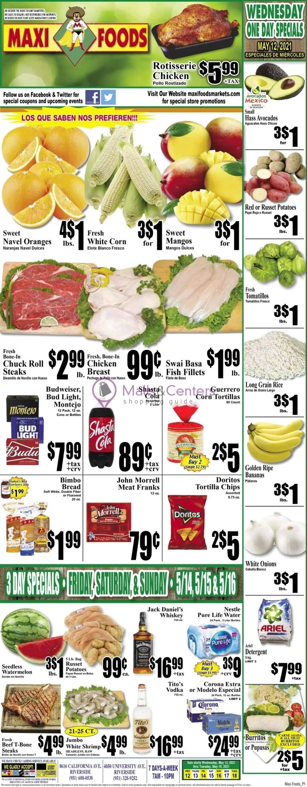 weekly ads Maxi Foods Markets - page 1 - mallscenters.com