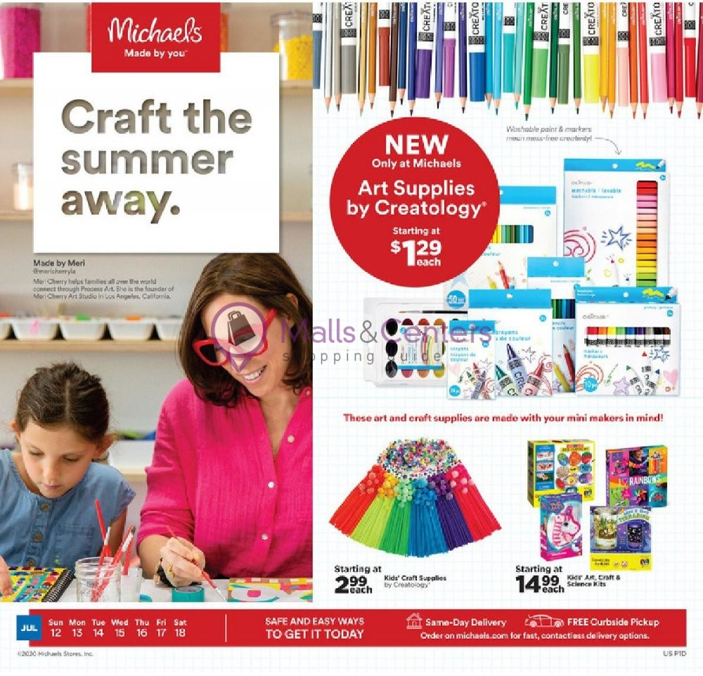 weekly ads Michaels - page 1 - mallscenters.com