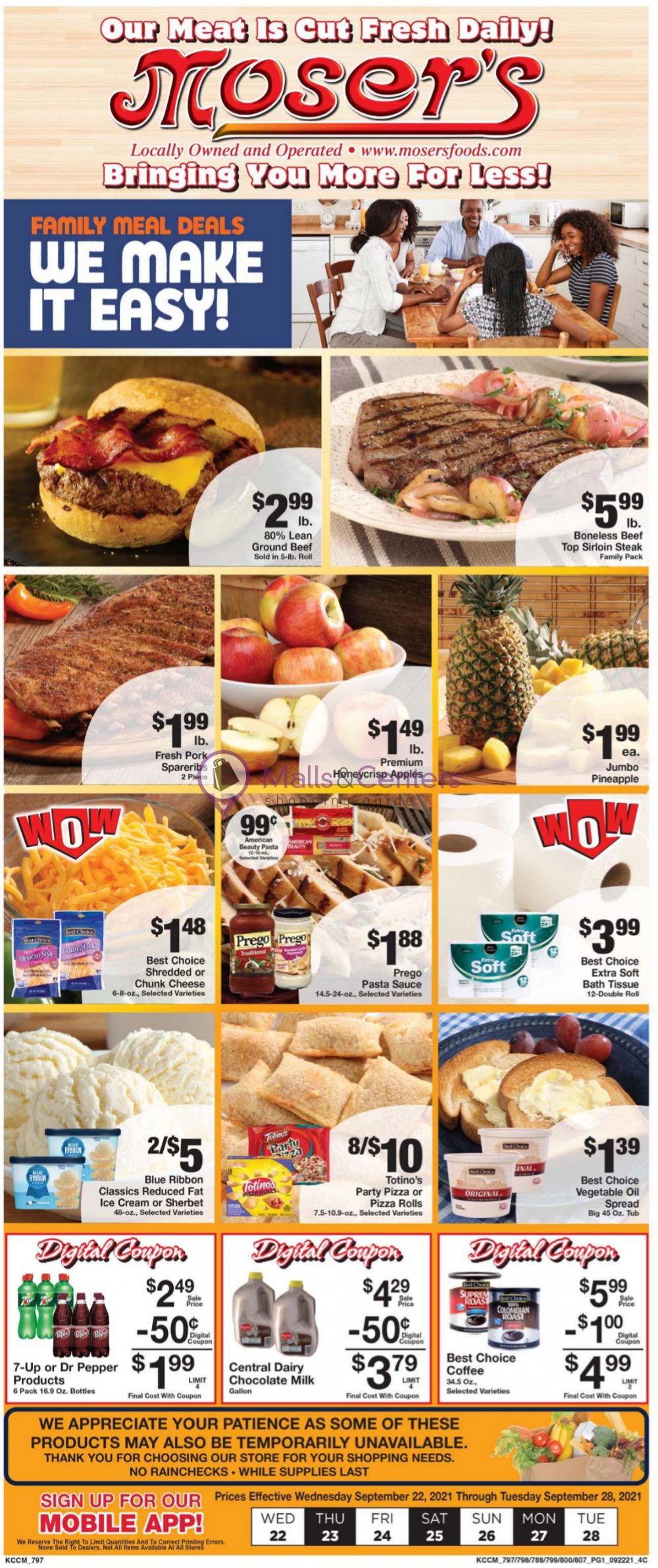 weekly ads Moser's Foods - page 1 - mallscenters.com
