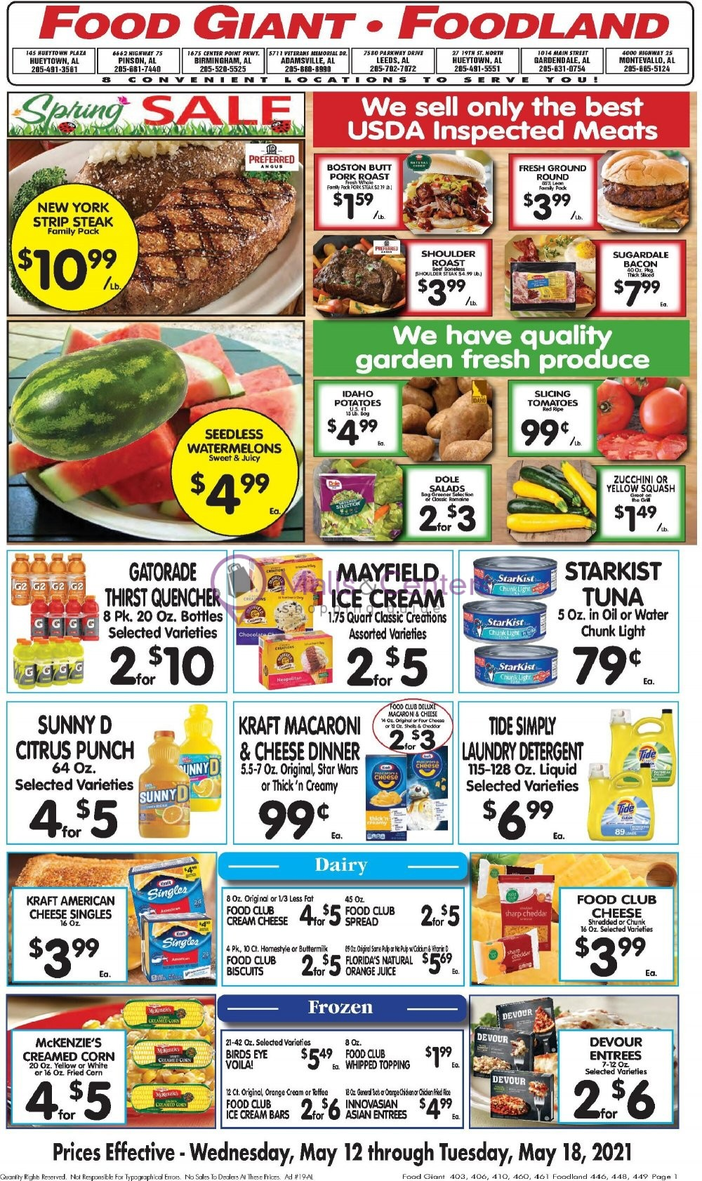 weekly ads My Food Giant - page 1 - mallscenters.com
