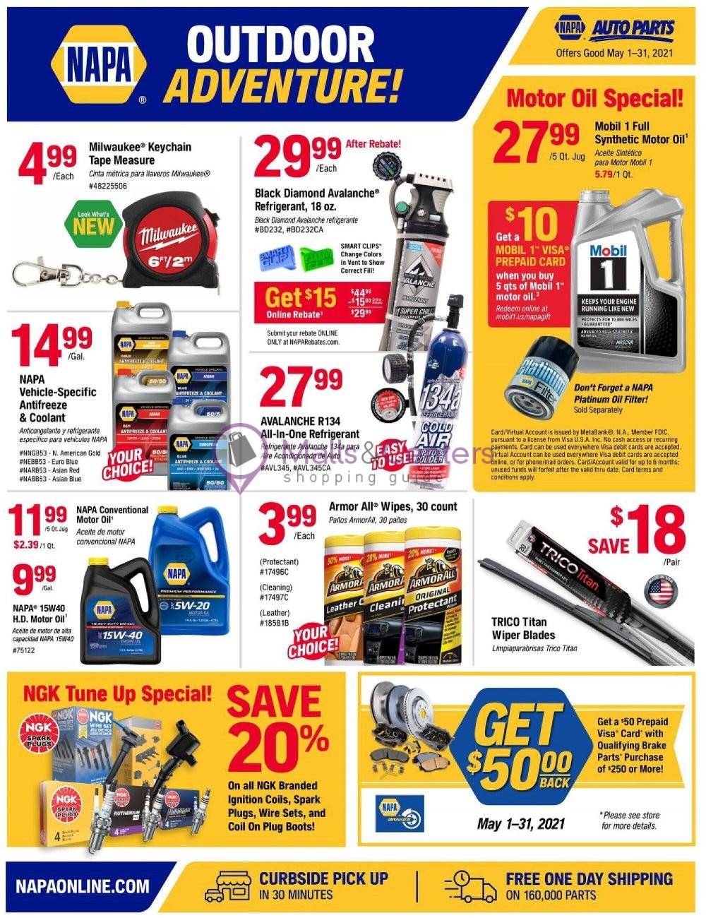 weekly ads Napa Auto Parts - page 1 - mallscenters.com