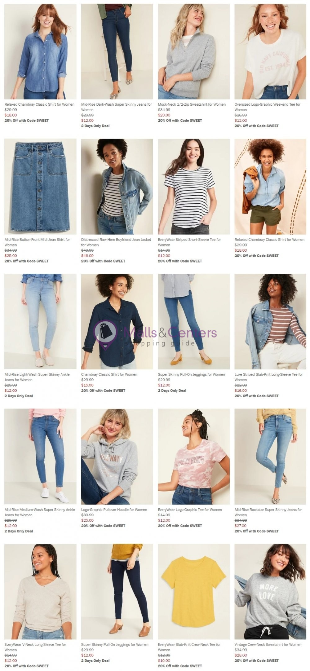 weekly ads Old Navy - page 1 - mallscenters.com