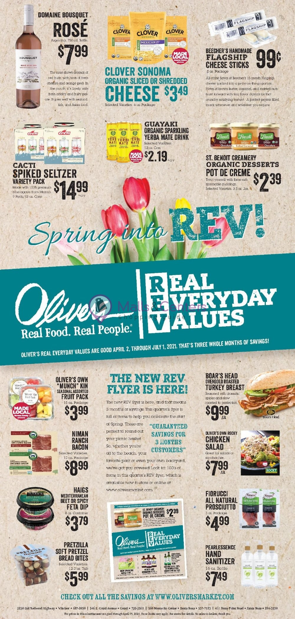 weekly ads Oliver's Markets - page 1 - mallscenters.com