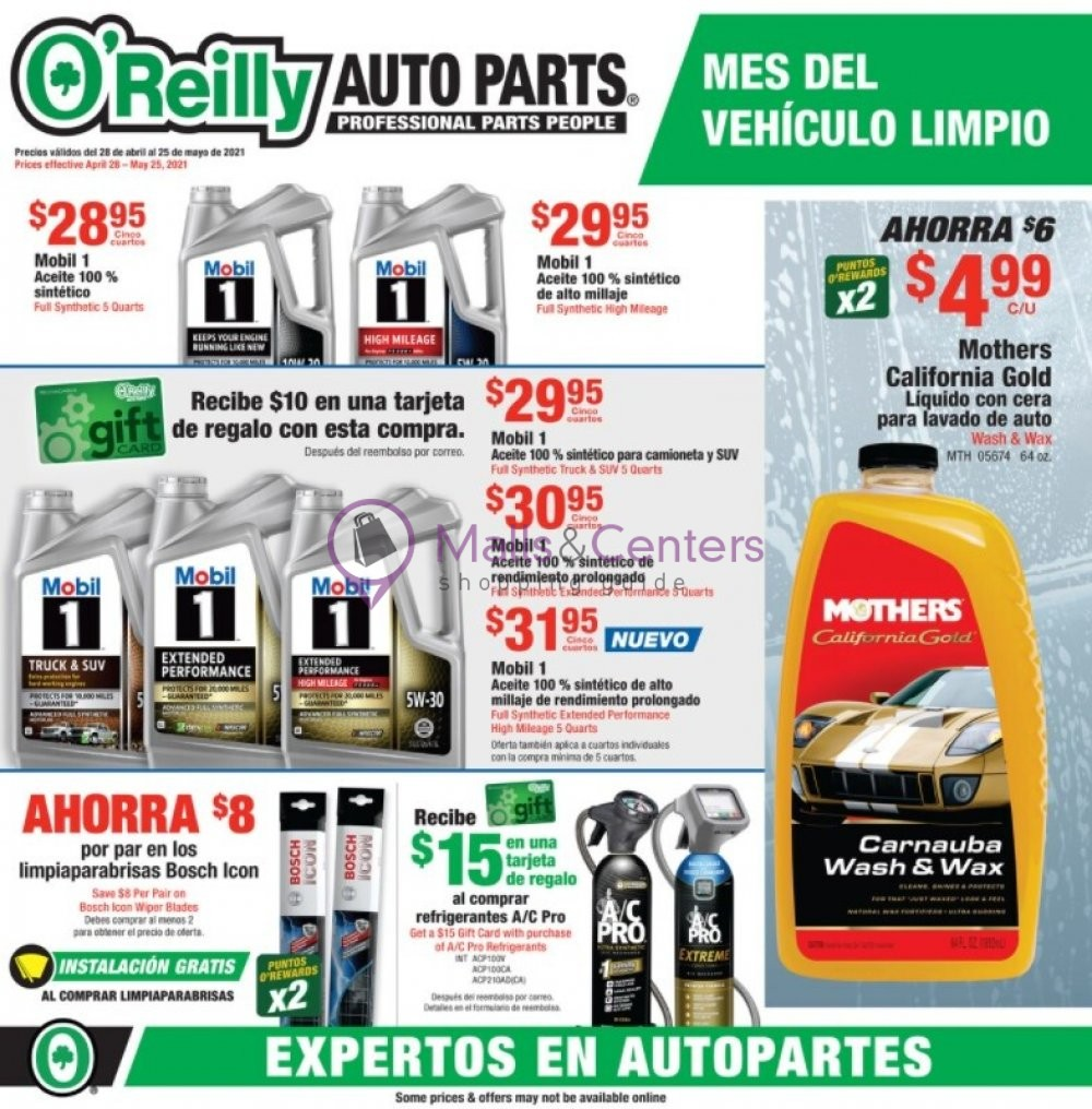 weekly ads O'Reilly Auto Parts - page 1 - mallscenters.com