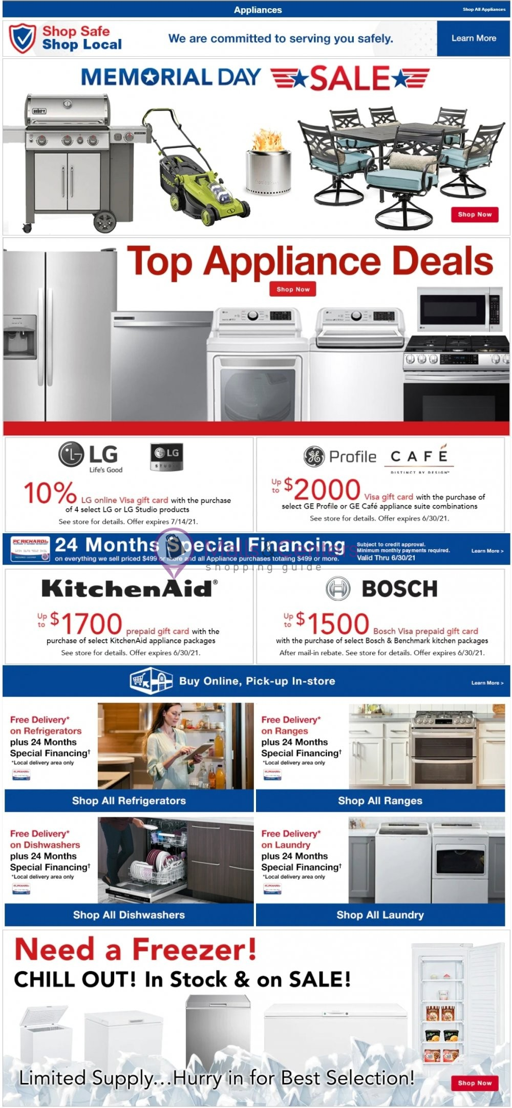 weekly ads P.C. Richard & Son - page 1 - mallscenters.com