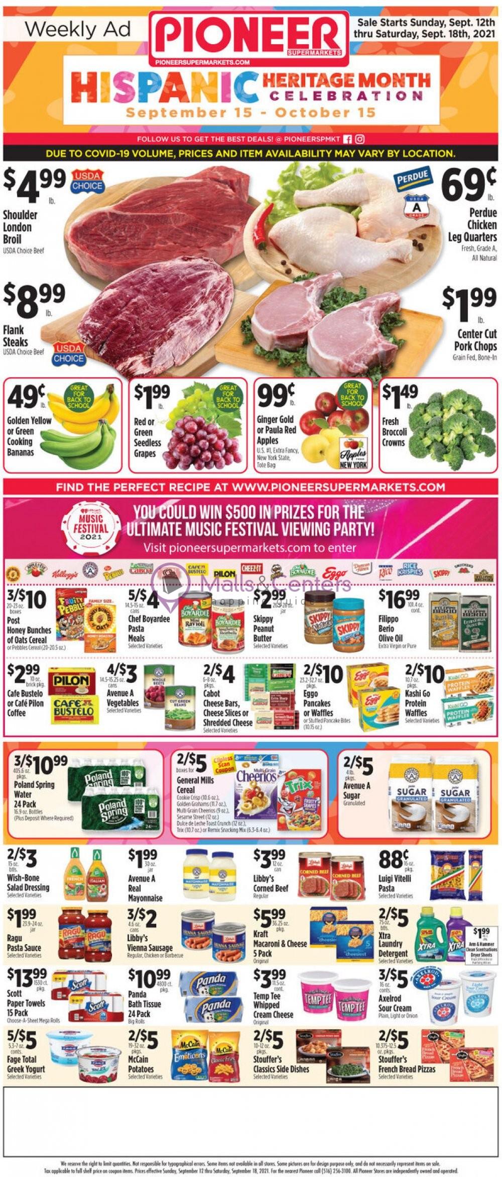 weekly ads PioneerSupermarkets - page 1 - mallscenters.com