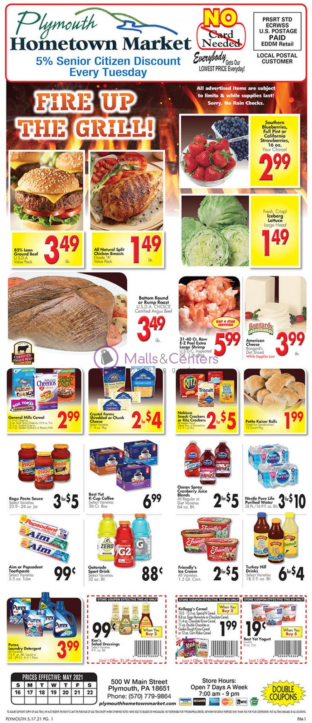 weekly ads Plymouth Hometown Market - page 1 - mallscenters.com