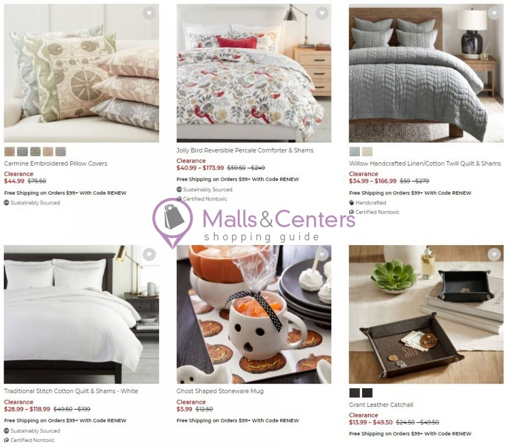 weekly ads Pottery Barn - page 1 - mallscenters.com