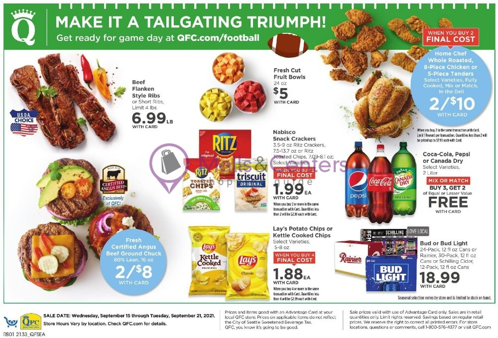 weekly ad QFC Quality Food Centers - page 1 - mallscenters.com