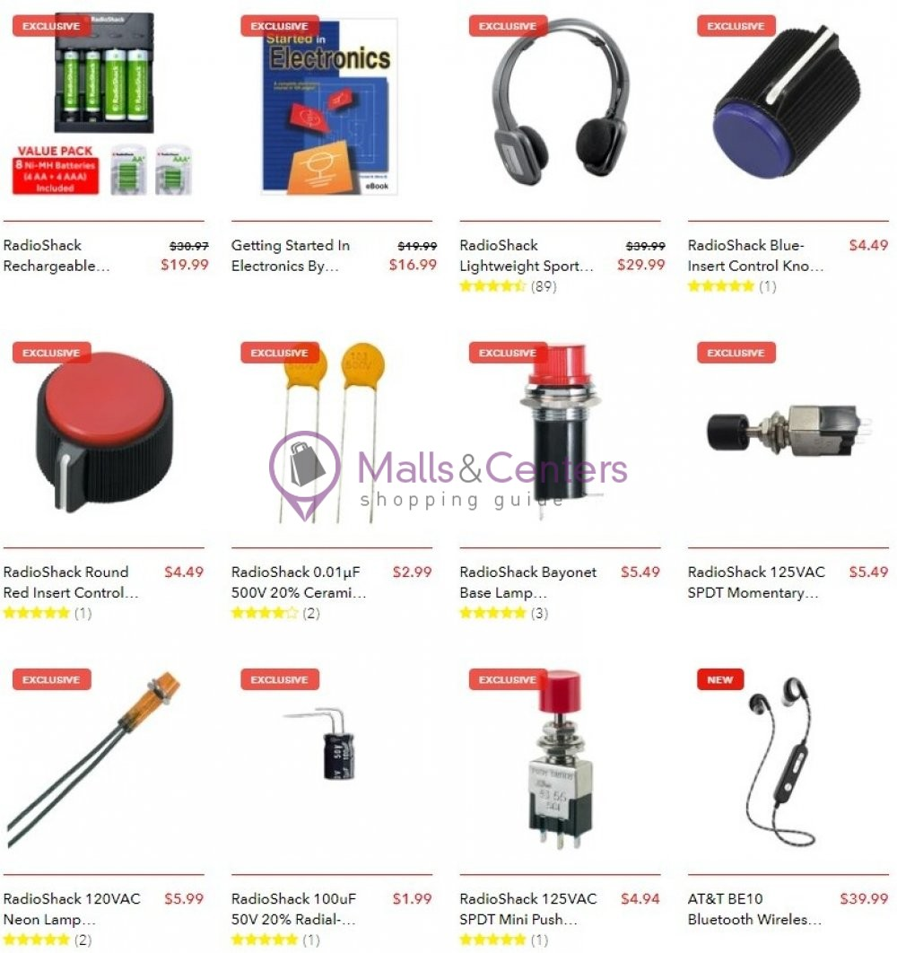 weekly ads Radio Shack - page 1 - mallscenters.com