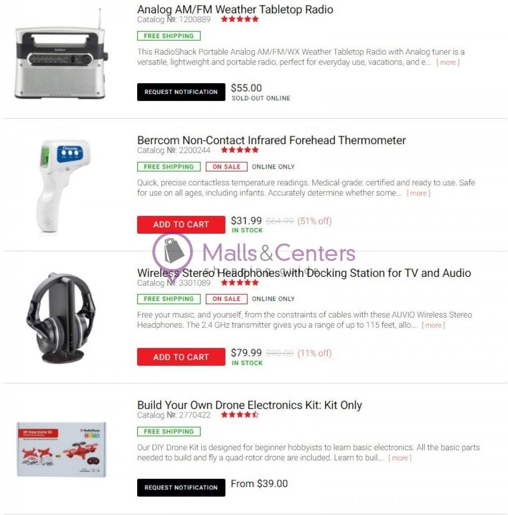 weekly ads Radio Shack - page 1 - mallscenters.com