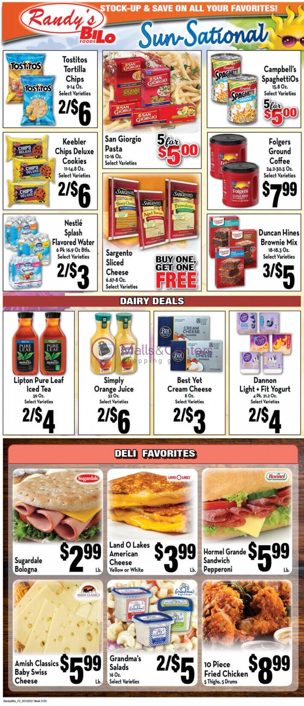 weekly ads Randy's BiLo Foods - page 1 - mallscenters.com