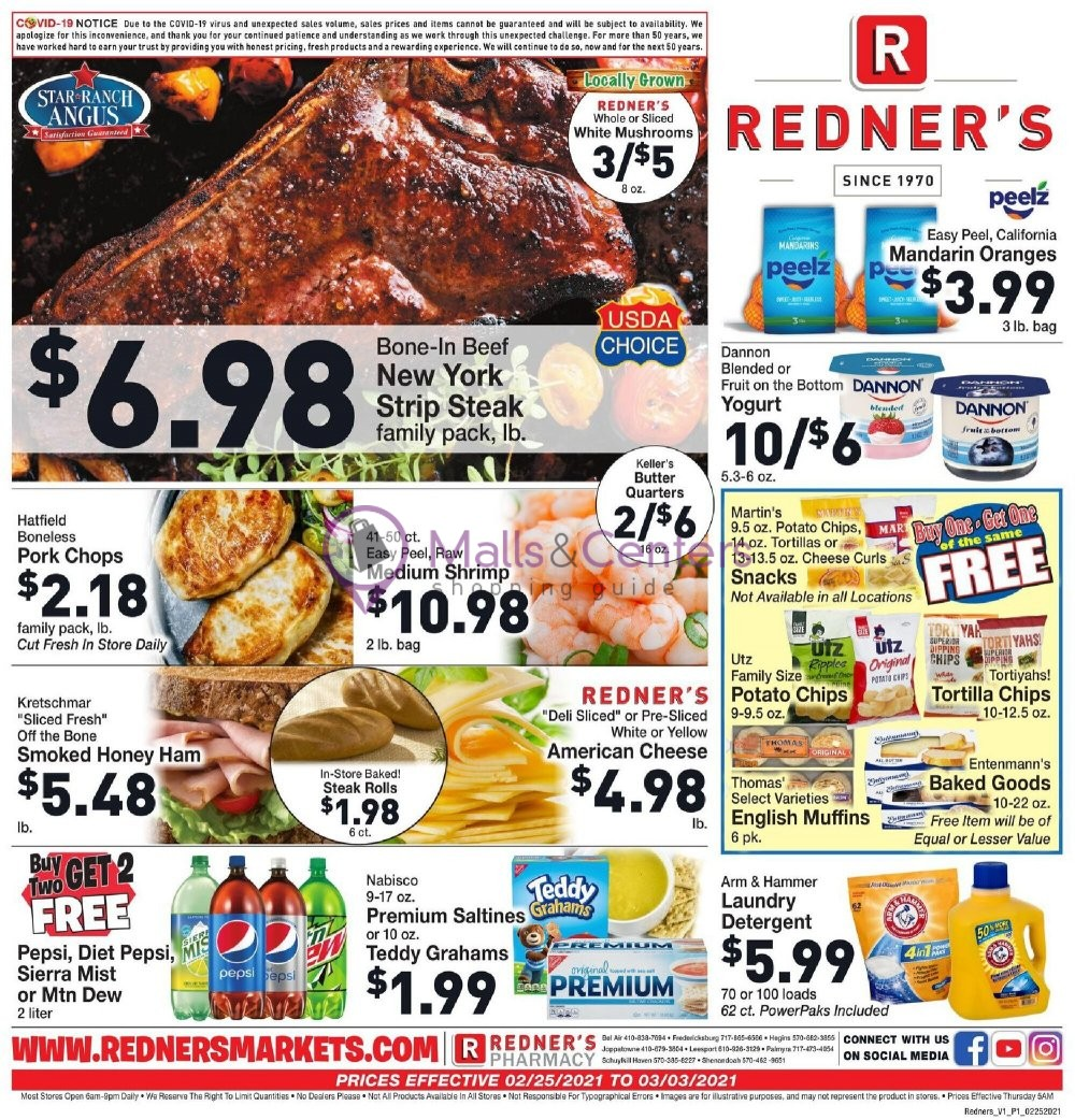 weekly ads Redner's Markets - page 1 - mallscenters.com
