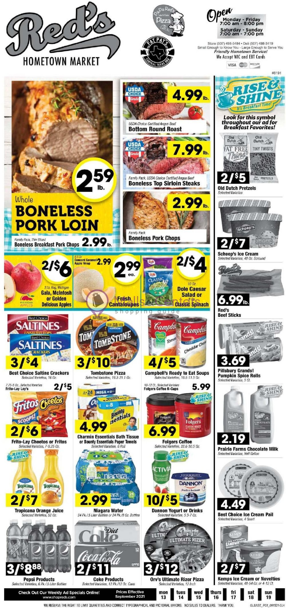 weekly ads Red's Market - page 1 - mallscenters.com