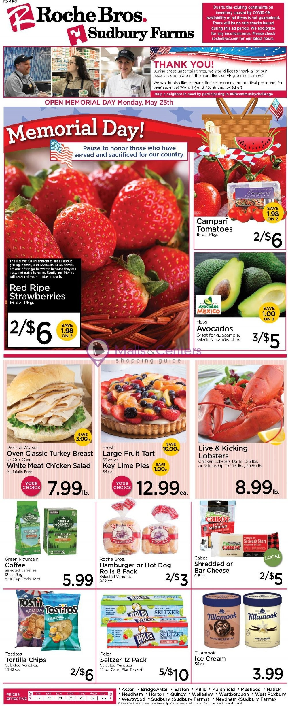 weekly ads Roche Bros. Supermarkets - page 1 - mallscenters.com