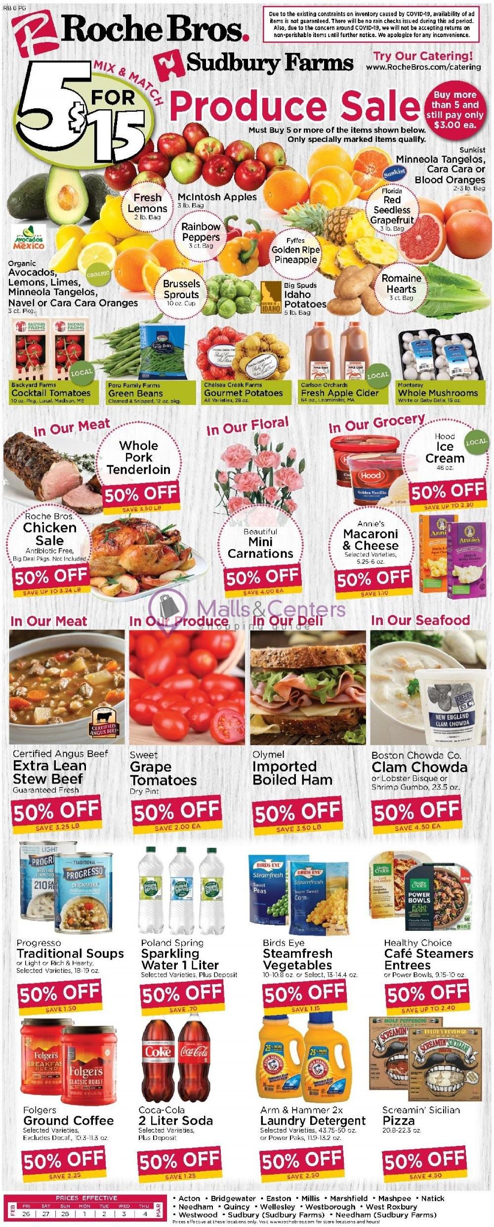 weekly ads Roche Bros. Supermarkets - page 1 - mallscenters.com