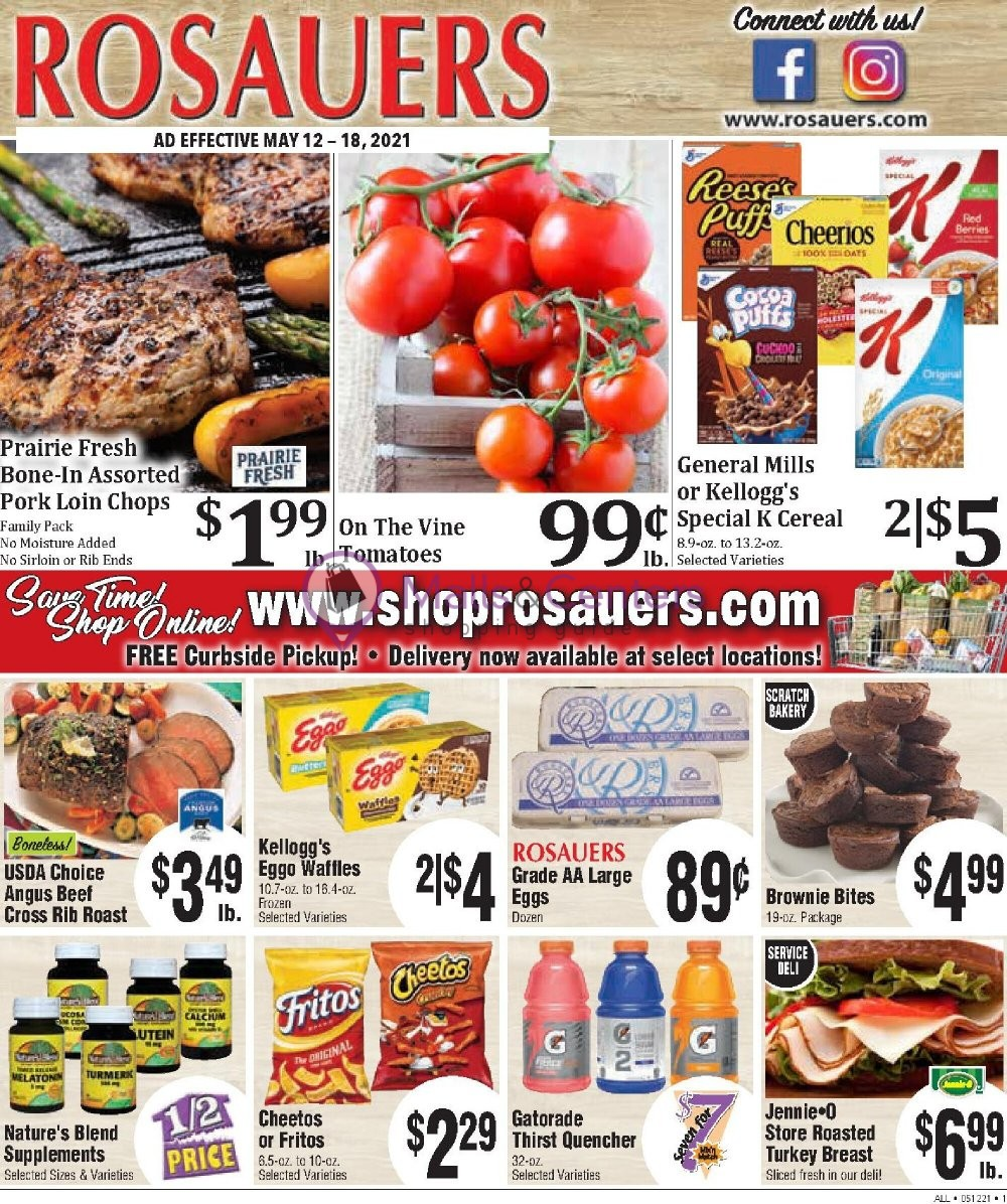 weekly ads Rosauers Supermarkets - page 1 - mallscenters.com