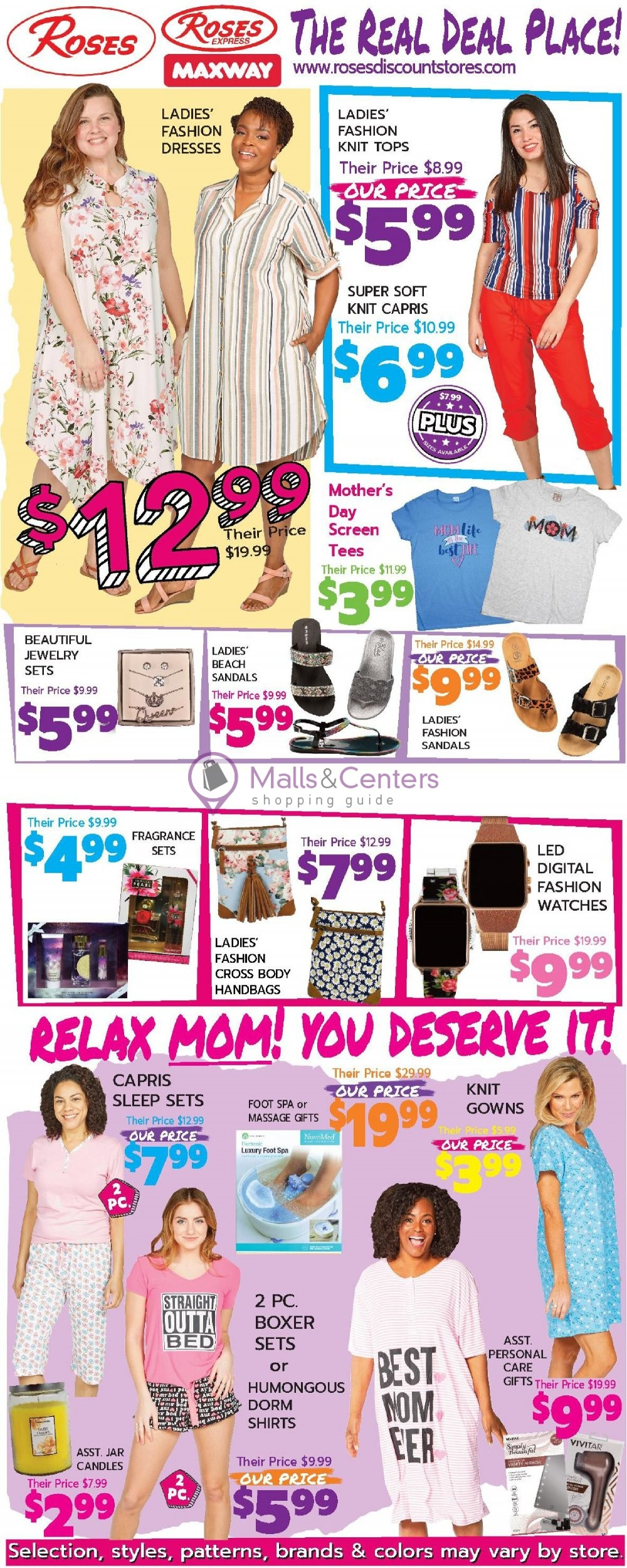 weekly ads Roses Discount Stores - page 1 - mallscenters.com