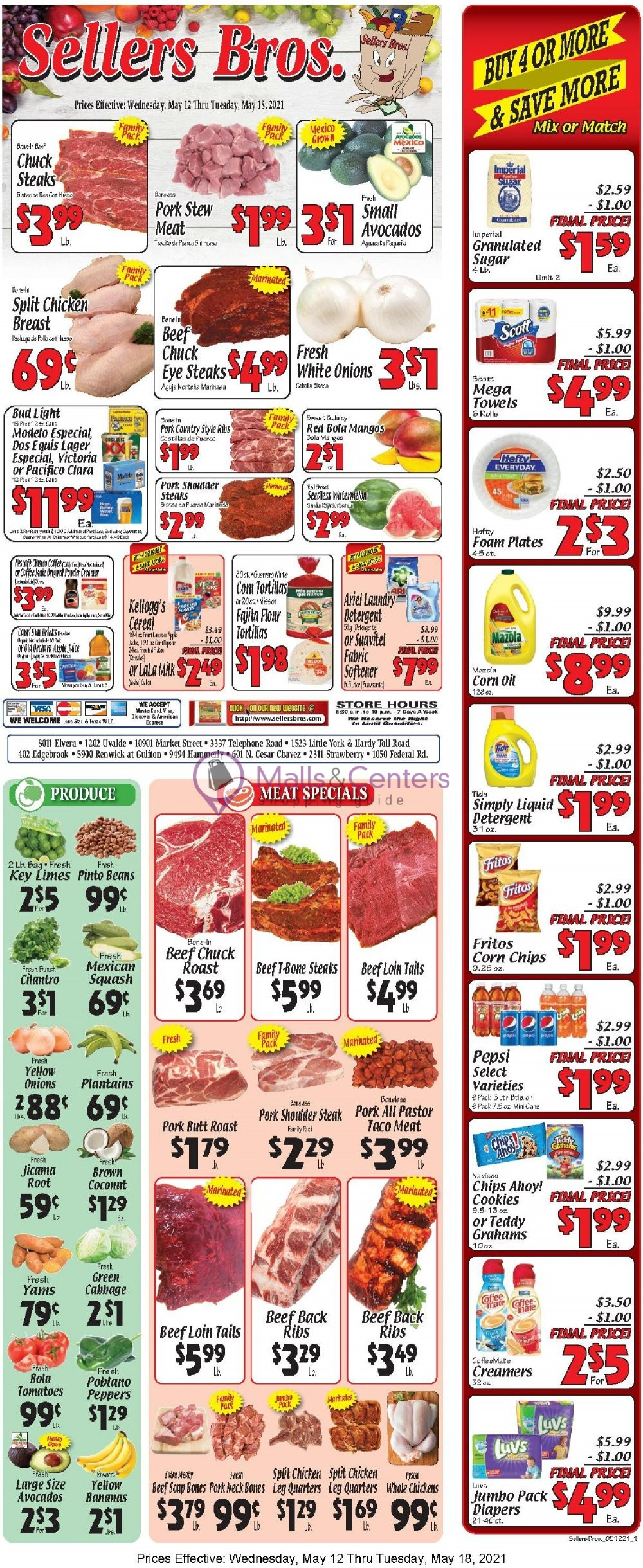 weekly ads Sellers Bros. - page 1 - mallscenters.com