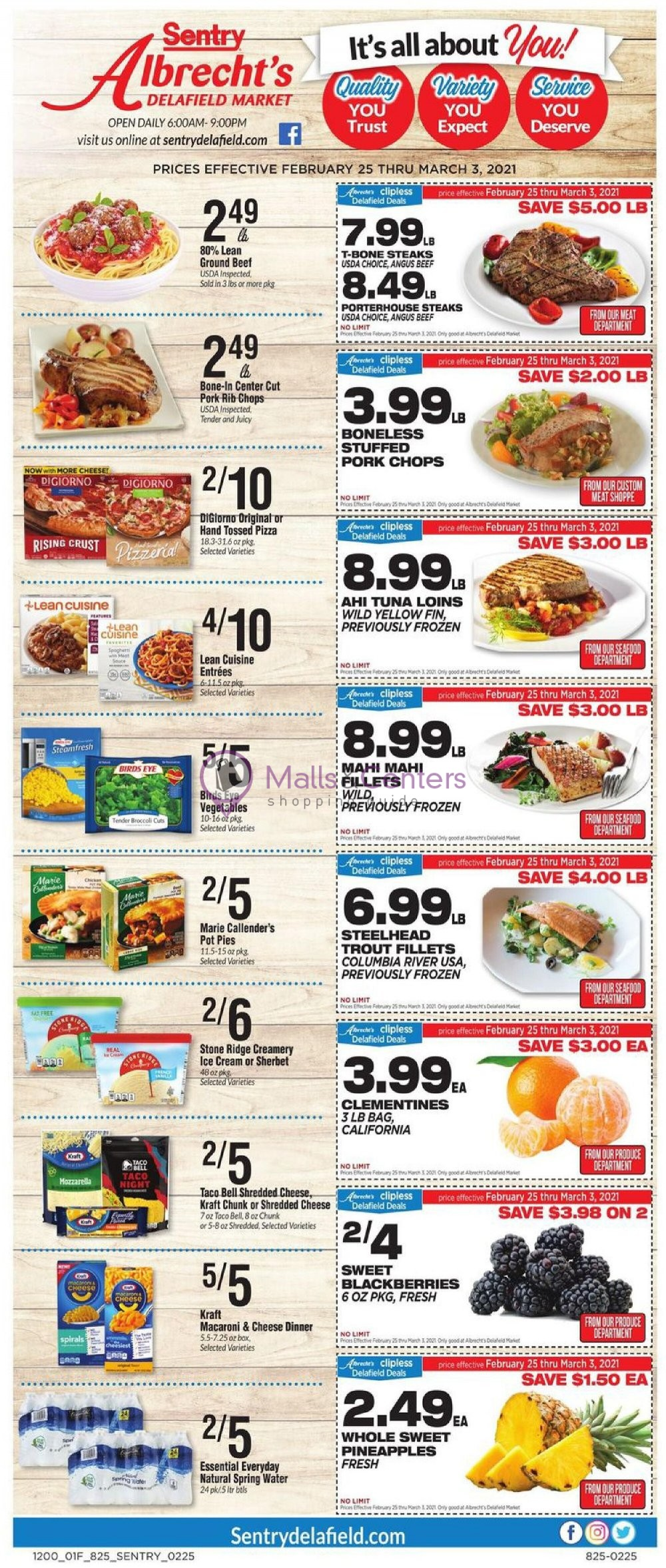 weekly ads Sentry Foods - page 1 - mallscenters.com