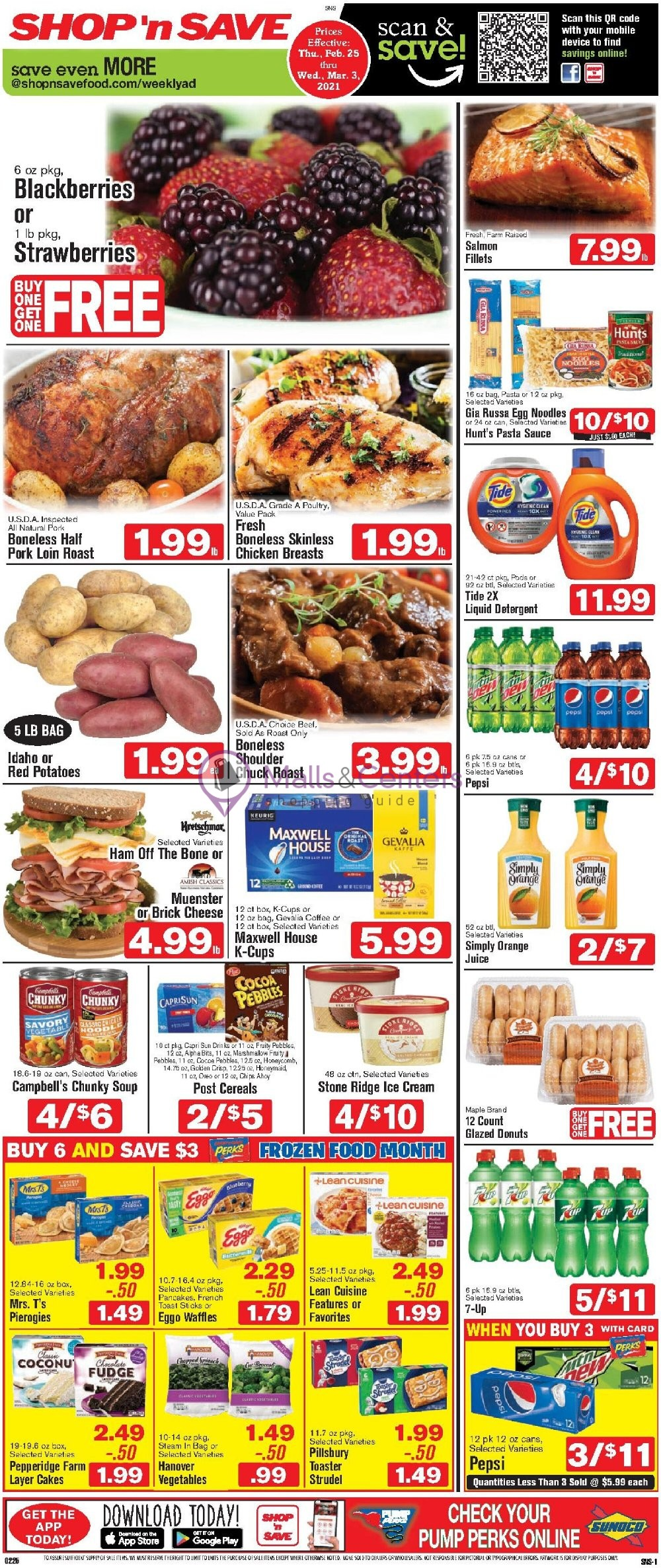 weekly ads SHOP 'n SAVE - page 1 - mallscenters.com