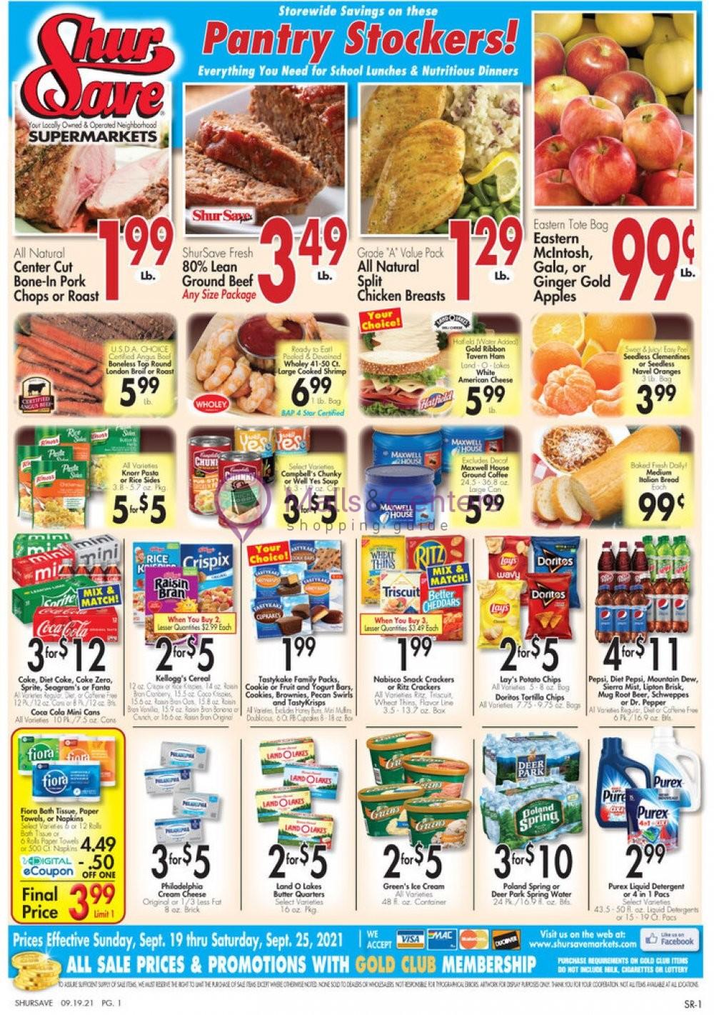 weekly ads ShurSave Markets - page 1 - mallscenters.com