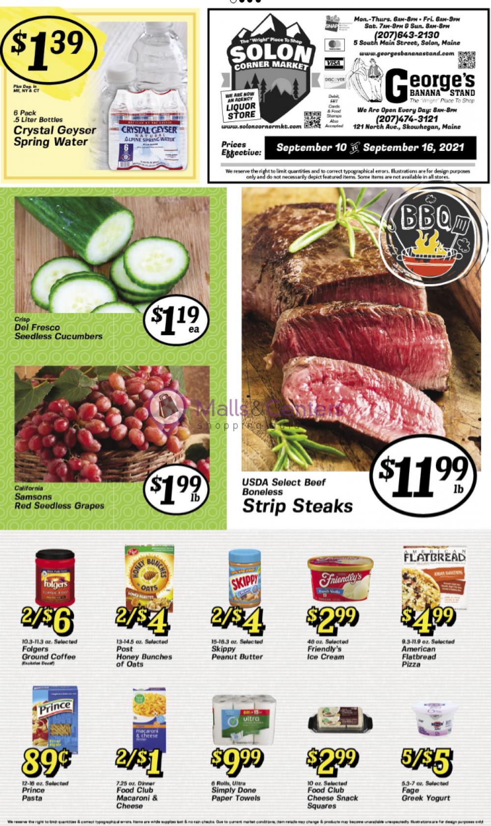 weekly ads Solon Corner market - page 1 - mallscenters.com