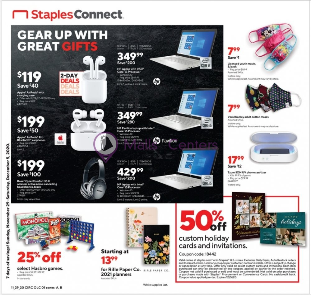 weekly ads Staples - page 1 - mallscenters.com