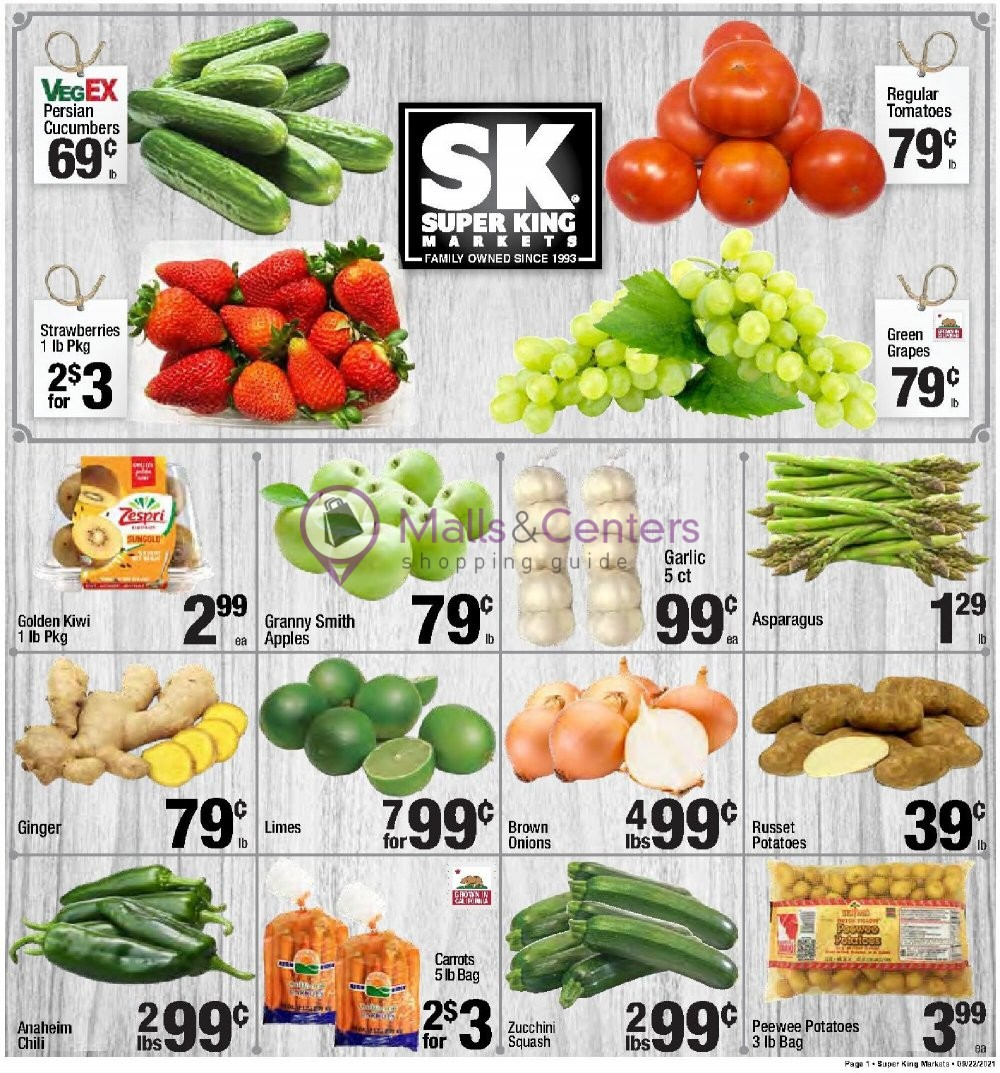 weekly ads Super King Markets - page 1 - mallscenters.com