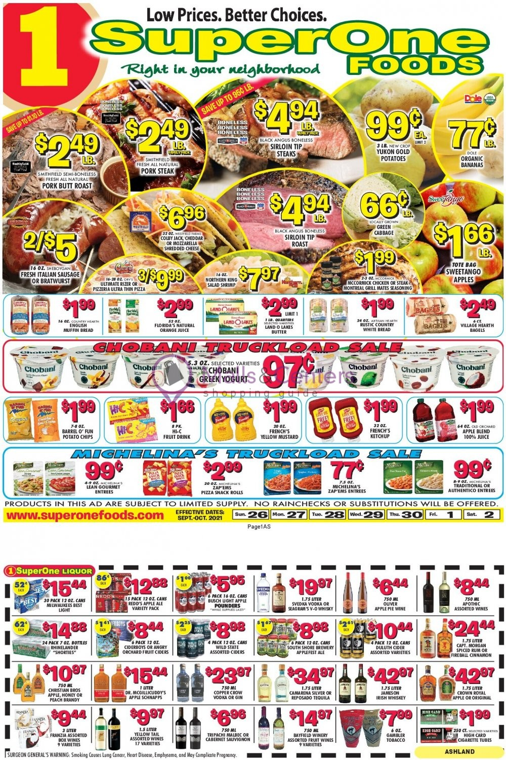weekly ads Super One Foods - page 1 - mallscenters.com