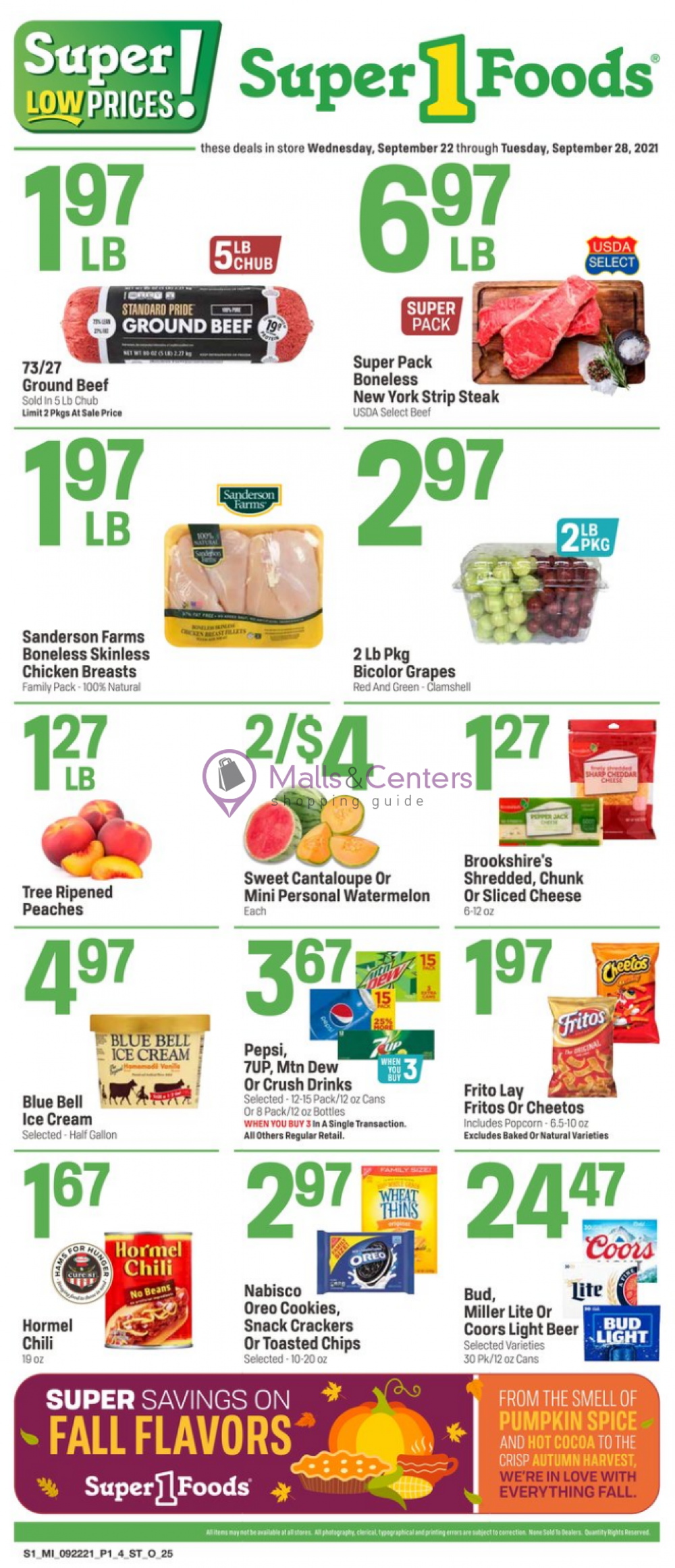 weekly ads Super1Foods - page 1 - mallscenters.com