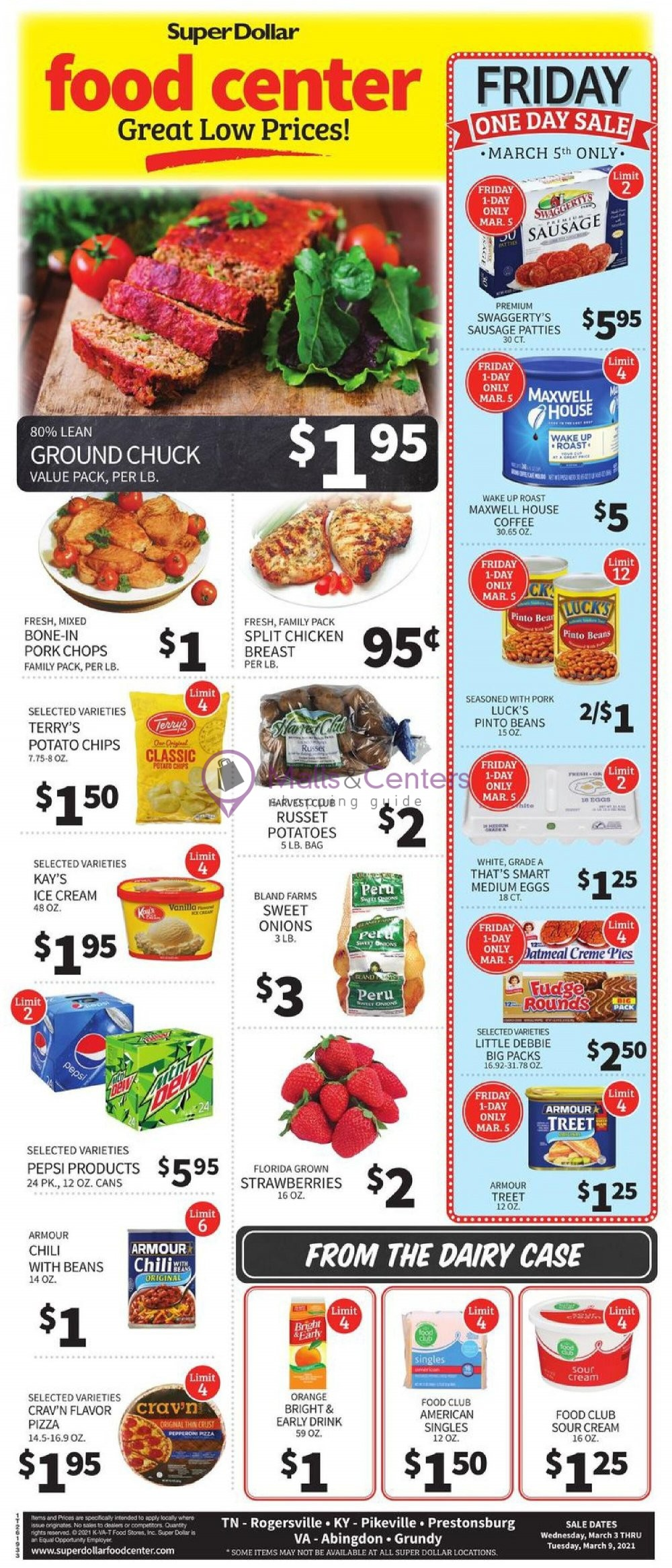 weekly ads SuperDollar Food Center - page 1 - mallscenters.com
