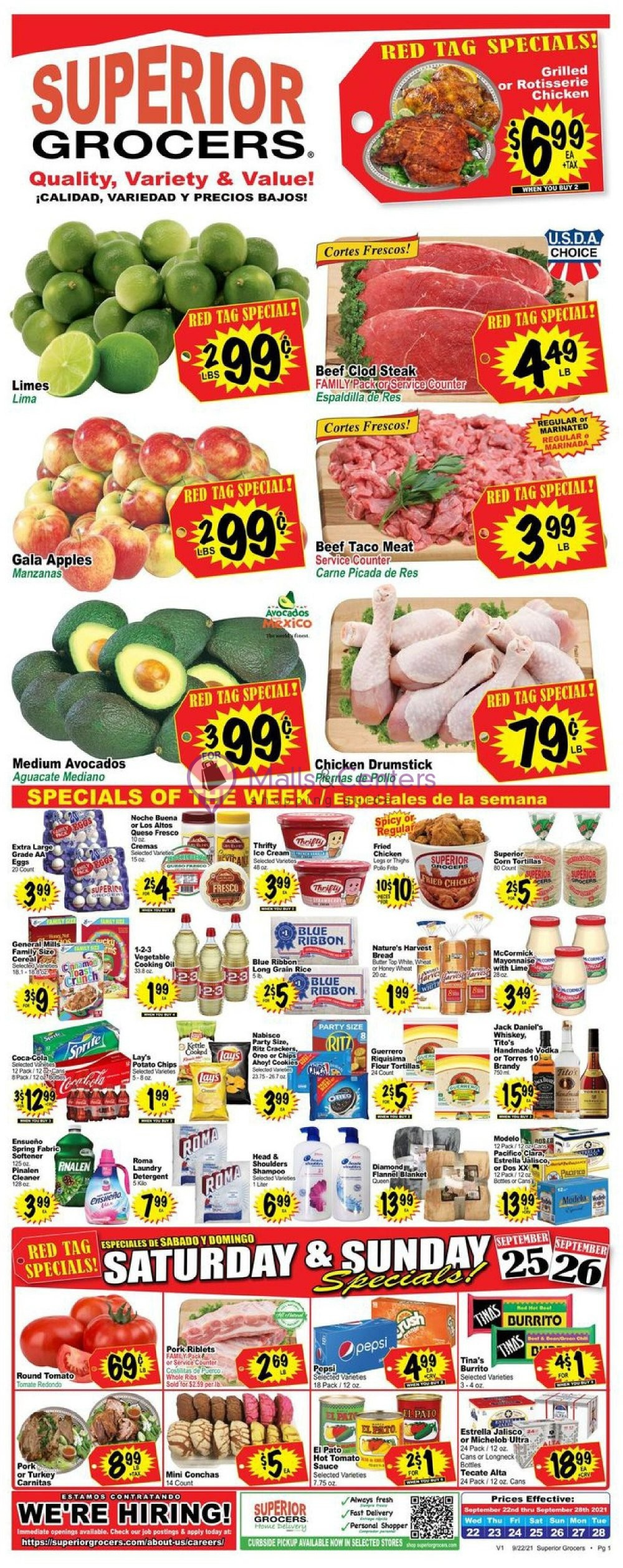weekly ads Superior Grocers - page 1 - mallscenters.com