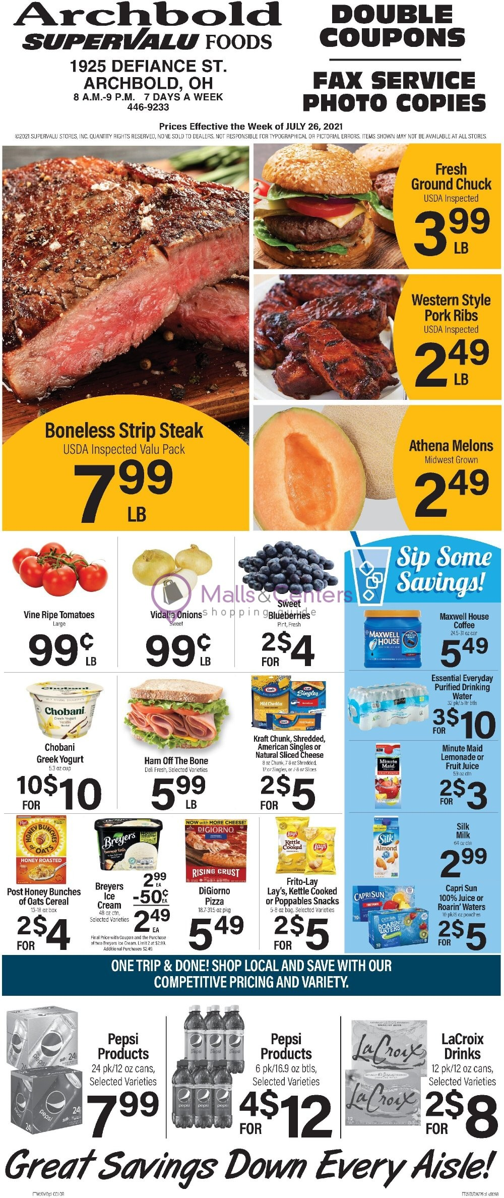 weekly ads Supervalu Food Stores - page 1 - mallscenters.com