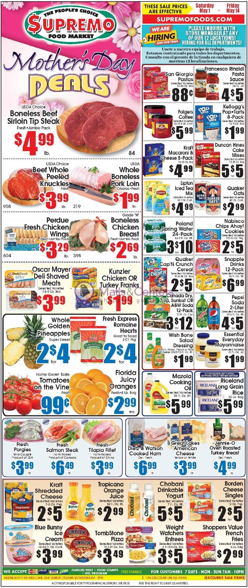 weekly ads Supremo Food Market - page 1 - mallscenters.com