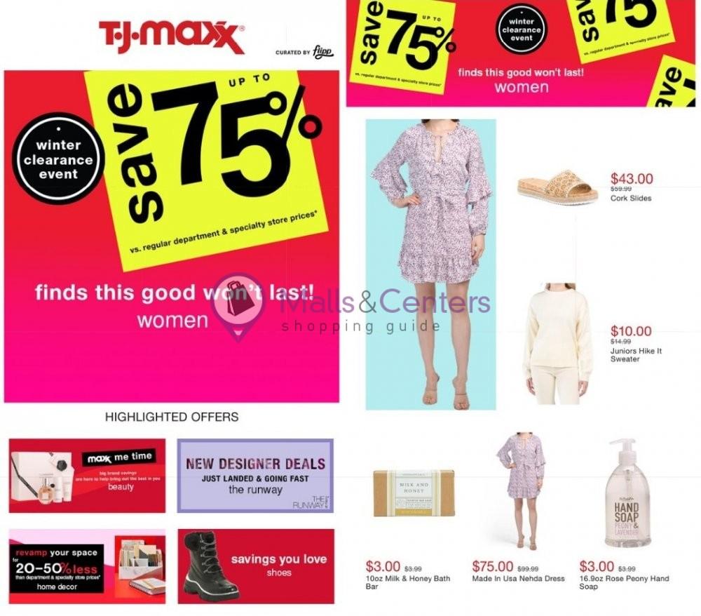 weekly ads T.J.Maxx - page 1 - mallscenters.com