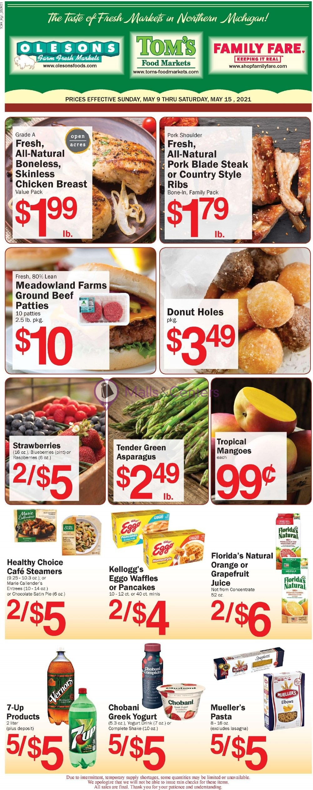 weekly ads Tom's Food Markets - page 1 - mallscenters.com